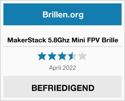MakerStack 5.8Ghz Mini FPV Brille Test