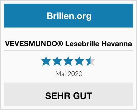 VEVESMUNDO® Lesebrille Havanna Test