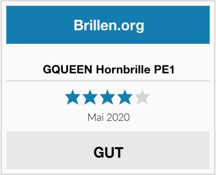 GQUEEN Hornbrille PE1 Test