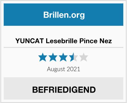 YUNCAT Lesebrille Pince Nez Test