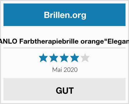 """VANLO Farbtherapiebrille orange""""Elegant"""" Test"""