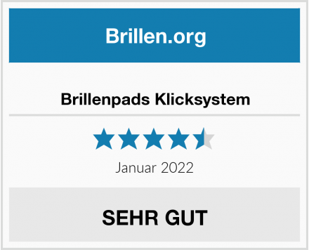 No Name Brillenpads Klicksystem Test