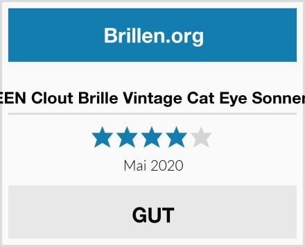 GQUEEN Clout Brille Vintage Cat Eye Sonnenbrille Test