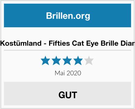 Das Kostümland - Fifties Cat Eye Brille Diamond Test