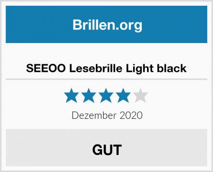 SEEOO Lesebrille Light black Test