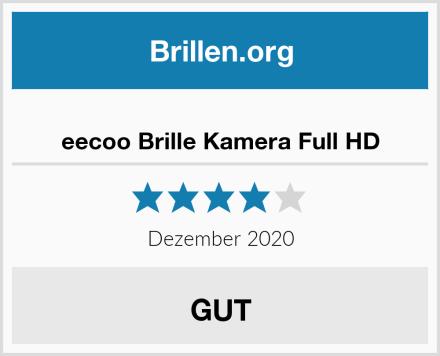 eecoo Brille Kamera Full HD Test