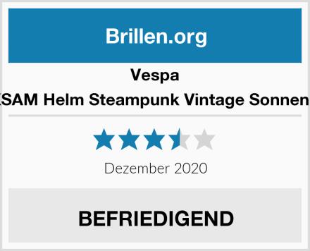 Vespa MUXSAM Helm Steampunk Vintage Sonnenbrille Test