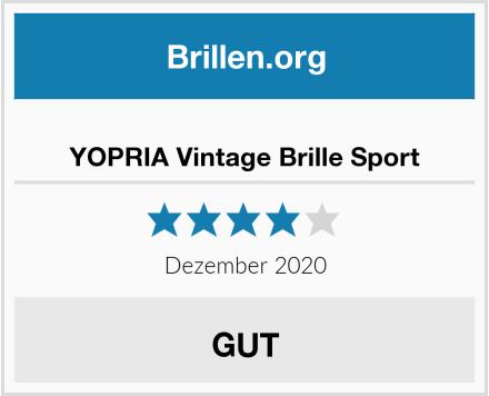 YOPRIA Vintage Brille Sport Test