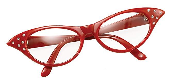 Bristol Novelty Damen Brille im 50er-Jahre-Stil