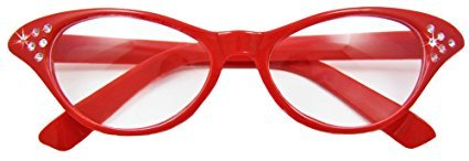 No Name Fifties Cat Eye Brille Diamond Rot