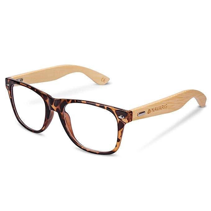 Navaris Retro Brille ohne Sehstärke
