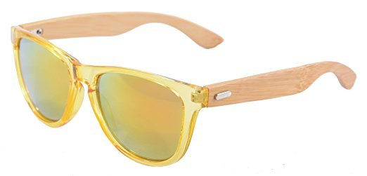 No Name SHINU Wooden Wayfarer-Sonnenbrille