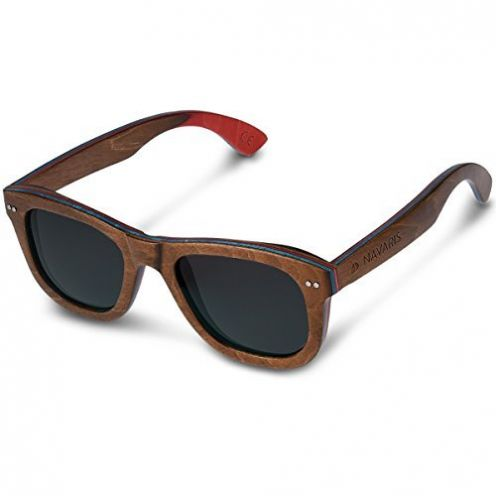 Navaris Holz Sonnenbrille UV400
