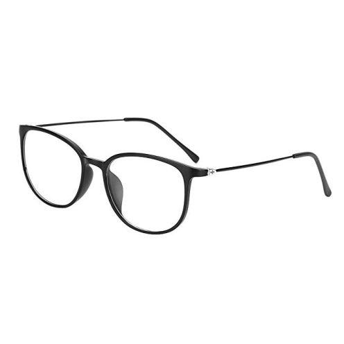 LONTG Retro Brille Schwarz