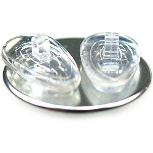 6 Paare 15 mm Tropfenform Silikon Brillen Nasenpads