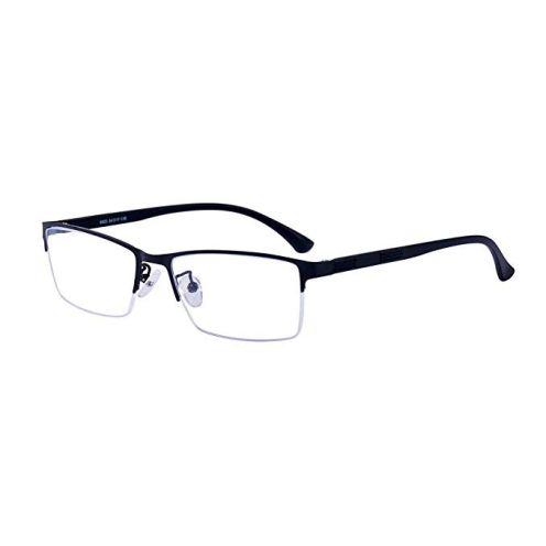 ALWAYSUV Halbrahmen Brille Schwarz