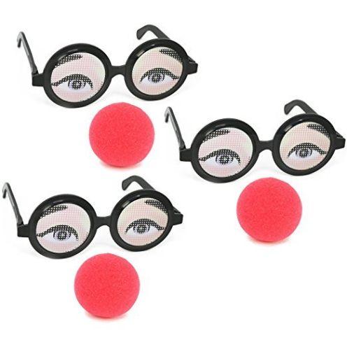 COM-FOUR Brillengläser mit Nase 3er Set