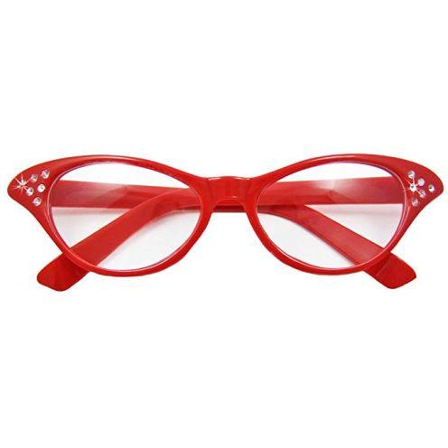 Das Kostümland - Fifties Cat Eye Brille Diamond