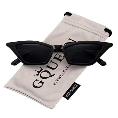 GQUEEN Clout Brille Vintage Cat Eye Sonnenbrille