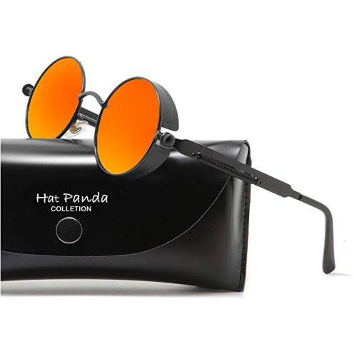 HatPanda Runde Polarisierte Retro Vintage Sonnenbrille