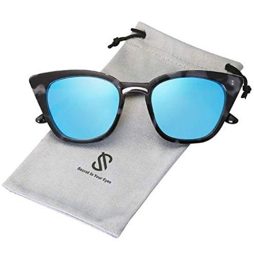 SOJOS Katzenaugen Voll-Rahmen Sonnenbrille