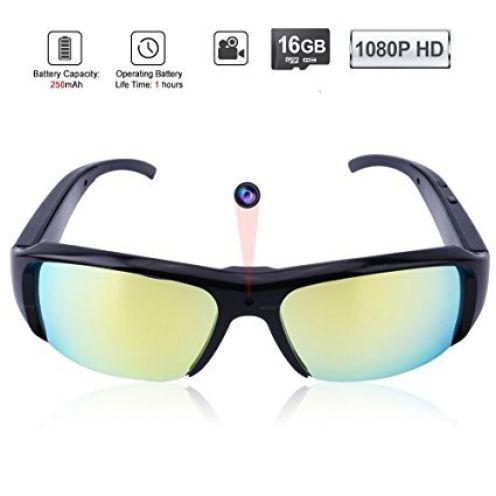 WISEUP 1080P HD Spionage Sonnenbrille